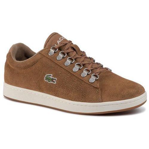 Sneakersy LACOSTE - Carnaby Evo 319 3 Sma 738SMA0011BW7 Lt Brw/Off Wht, kolor brązowy