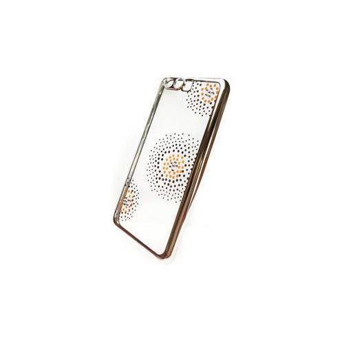 Obudowa dla telefonów komórkowych Beeyo Flower Dots pro Huawei P10 (BEAHUP10TPUFLSI) Srebrny