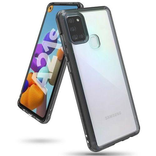 Ringke Fusion etui pokrowiec z żelową ramką Samsung Galaxy A21S czarny (FSSG0085) - Czarny, kolor czarny
