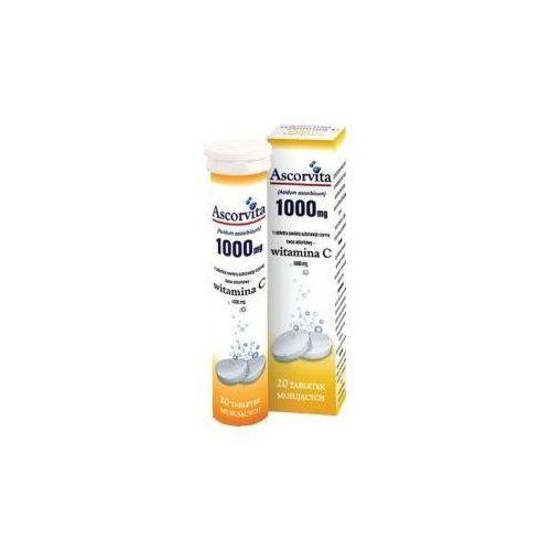 Tabletki ASCORVITA (Additiva) Witamina C 1000mg x 20 tabl. mus cytrynowa