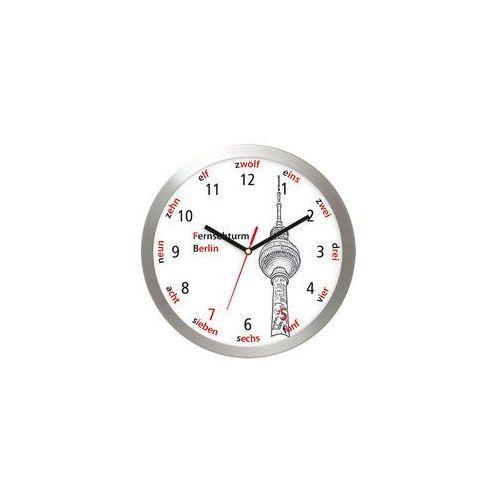 Aluminiowy zegar ścienny Wieża TV Berlin