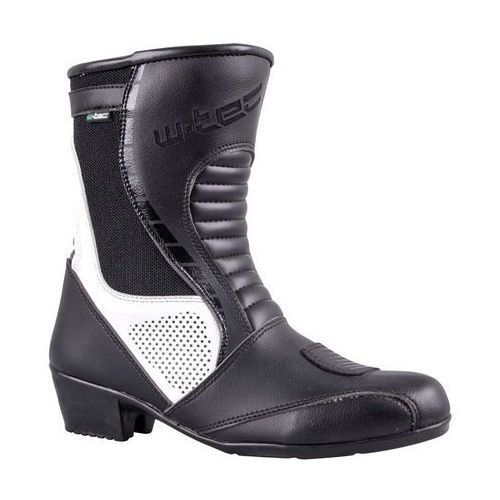 Damskie skórzane buty motocyklowe W-TEC Beckie W-5036, Czarno-biały, 36
