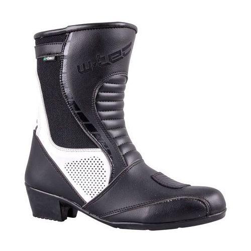 W-tec Damskie skórzane buty motocyklowe beckie w-5036, czarno-biały, 39