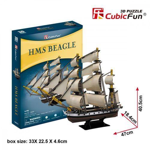 Cubicfun Puzzle 3d żaglowiec 168 elementów