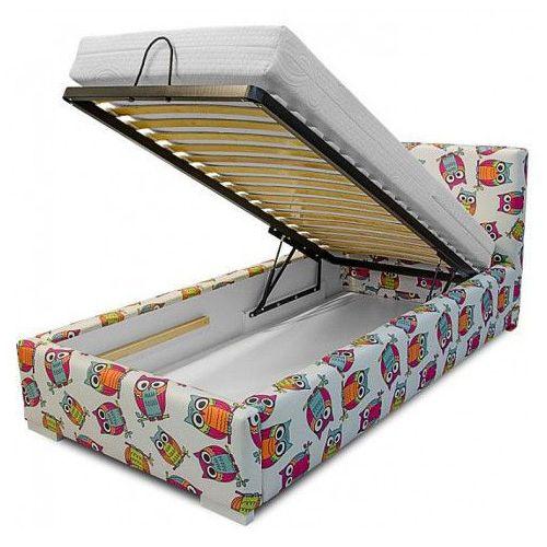 Łóżko z pojemnikiem na pościel Dinks 90x200 - 45 kolorów