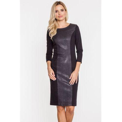 Czarna sukienka z ozdobną wstawką - RJ Rocks Jeans, kolor czarny