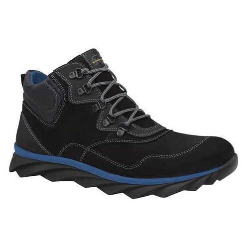 Krisbut Trzewiki zimowe 6406a-10-3 czarne ocieplane trekkingowe