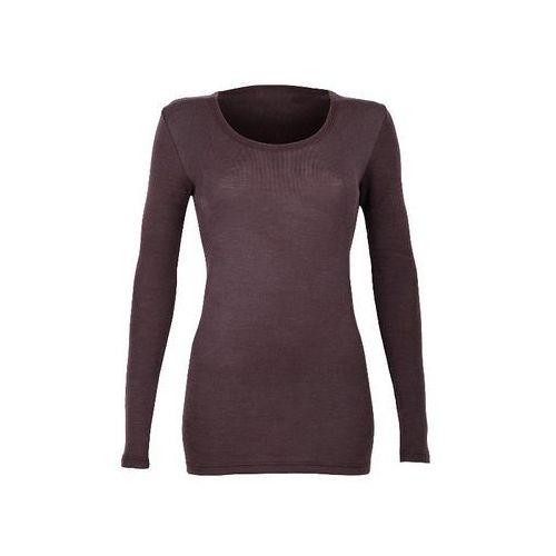 Koszulka damska z dł. rękawem z wełny merynosów 100%- : rozmiar - l, kolor - śliwkowy, Dilling