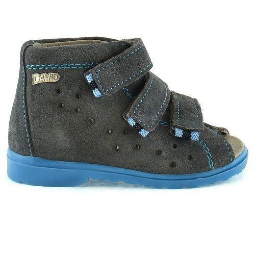 Dawid Dziecięce buty profilaktyczne 1041 - niebieski ||szary