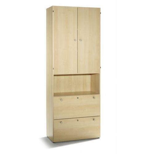 VERA - Szafa combi,4 wysokości segregatora, 2 szuflady na kartotekę wiszącą