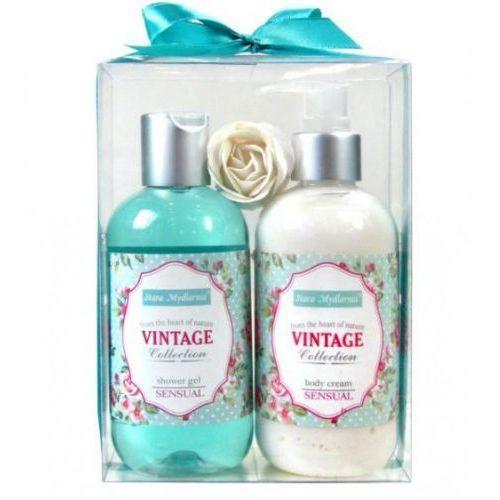 Vintage collection zestaw - żel pod prysznic + masło do ciała + różyczka do kąpieli marki Stara mydlarnia