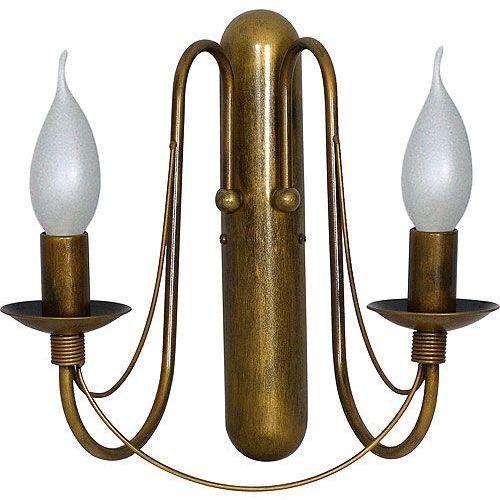 Kinkiet lampa oprawa ścienna klasyczna świecznikowa Aldex Róża I 2x40W E14 stare złoto 397D26, 397D26