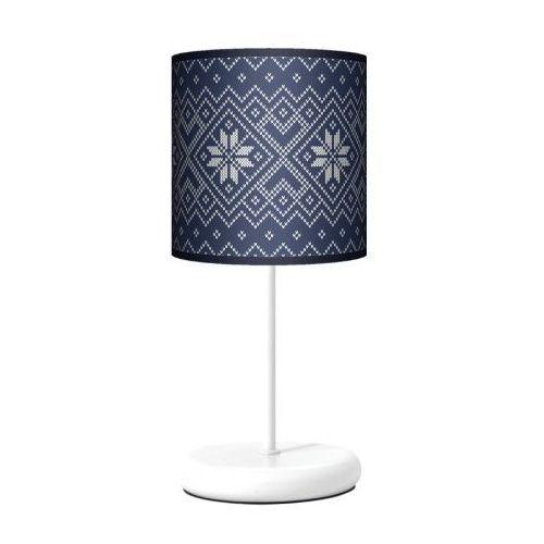 Fotolampy Lampa stojąca eko - niebieska dzianina