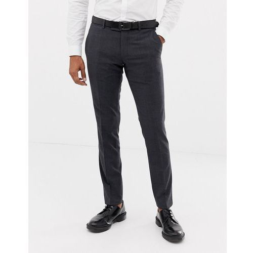 slim fit commuter suit trousers in grey check - grey, Esprit