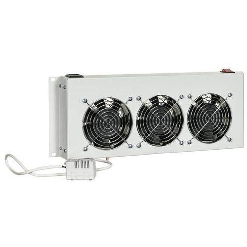 Triton panel wentylacyjny z termostatem rac-ch-x26-x1 (3x wentylator 230v/45w, kolor jasnoszary ral7035) rac-ch-x26-x1 - odbiór w 2000 punktach - salony, paczkomaty, stacje orlen