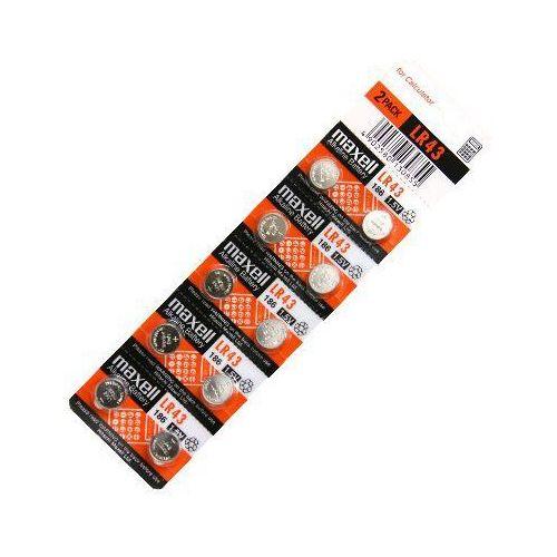 10 x bateria alkaliczna mini Maxell G12 / AG12 / L1142 / LR43 / 186 / V12GA / RW84 / D186 (4902580130855)