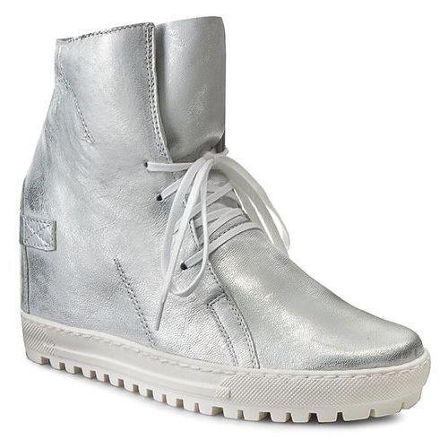 Sneakersy EKSBUT - 75-3975-369-1G Srebro Licowa, w 6 rozmiarach