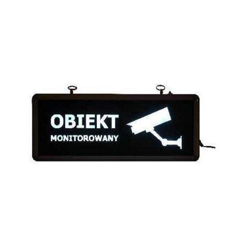 """Neon """"Obiekt Monitorowany""""."""