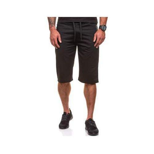 Krótkie spodenki dresowe męskie czarne denley 6010 marki J.style
