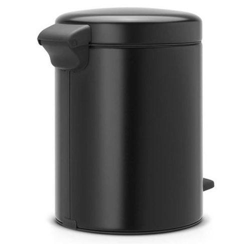 Brabantia Kosz na śmieci 3 litry new icon stal szlachetna czarny mat (8710755113321)