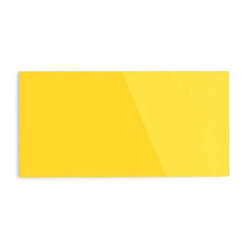 Tablica suchościeralna mood, szkło, magnetyczna, 2000x1000 mm, żółty marki Aj produkty