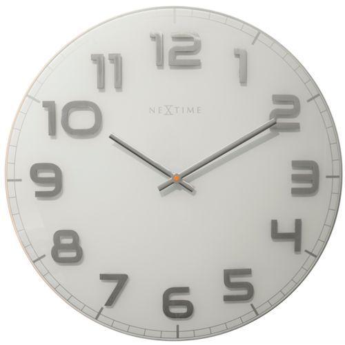 Nextime:: Zegar Ścienny Classy Large biały Ø50cm - biały, kolor biały