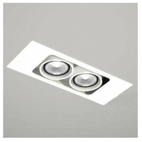 Spot LAMPA sufitowa EBINO 7316 Shilo podtynkowa OPRAWA OCZKO łazienki prostokątna wpust biały, kolor biały;czarny