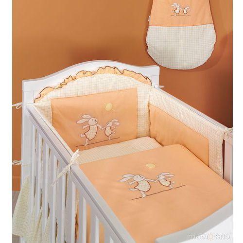 ochraniacz do łóżeczka 60x120 wesołe zajączki brzoskwiniowe - promocja marki Mamo-tato