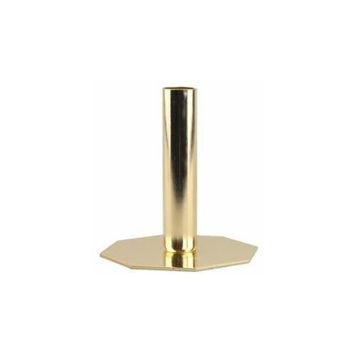 Świecznik metalowy na świecę stołową wys. 13 cm miedziany (5903039407053)