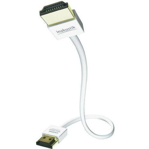 Kabel HDMI Inakustik 4246105 004246105, [1x złącze męskie HDMI - 1x złącze męskie HDMI], 5 m, biały, 4246105