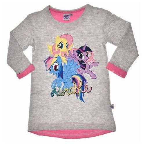 Dresowa sukienka dziecięca my little pony - szary marki Licencja