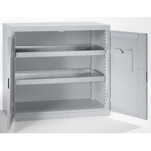 Stumpf-metall Szafa ekologiczna, drzwi perforowane, wys. x szer. x głęb. 900x1000x500 mm, 2 pó
