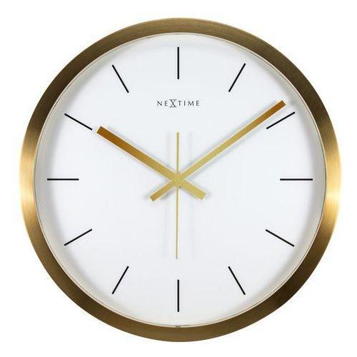 Nextime Zegar ścienny stripe biały