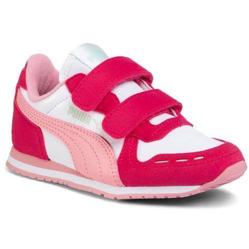 Sneakersy PUMA - Cabana Racer Sl V Ps 360732 81 Puma White/Bright Rose/Peony, kolor różowy