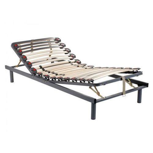 Dreamea Stelaż łóżka listwowy na elastycznych uchwytach, 3 powierzchnie do leżenia, regulacja twardości za pomocą suwaków - 70 x 190 cm