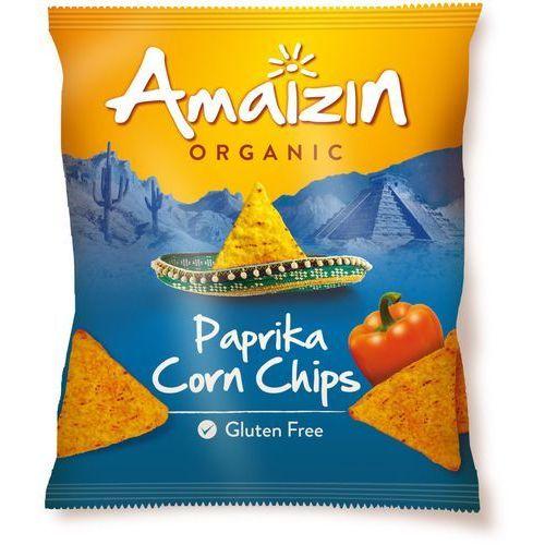 Chipsy kukurydziane o smaku paprykowym bezglutenowe bio 75 g - marki Amaizin