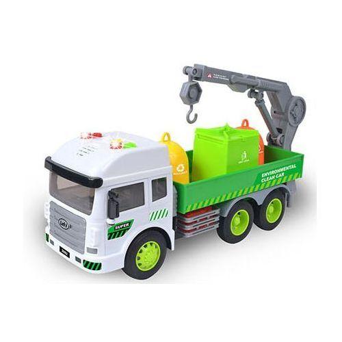 Smiki, eko śmieciarka, światło i dźwięk, pojazd