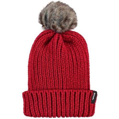 czapka zimowa BENCH - Turn Up Fur Pom Pom Beanie Bright Red (RD038) rozmiar: OS