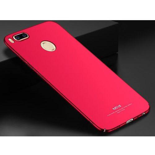 Etui MSVII Thin Case do Xiaomi Mi A1 / Mi 5X Czerwone + Szkło - Czerwony, kolor czerwony