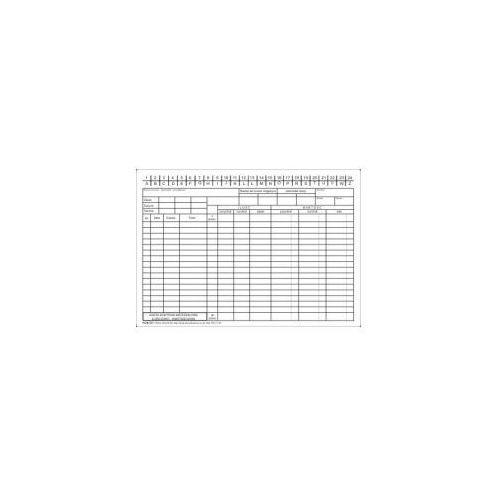 Karta kontowa materiałowa ilość-wartość A5 [Pu/K-311]