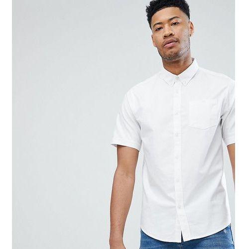 D-struct tall basic oxford short sleeve shirt - white