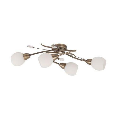 Plafon lampa oprawa sufitowa Rabalux Emily 4X40W E14 brąz 2619