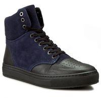 Sneakersy - gervasio 27857-05-64 czarny granatowy, Kazar, 40-43