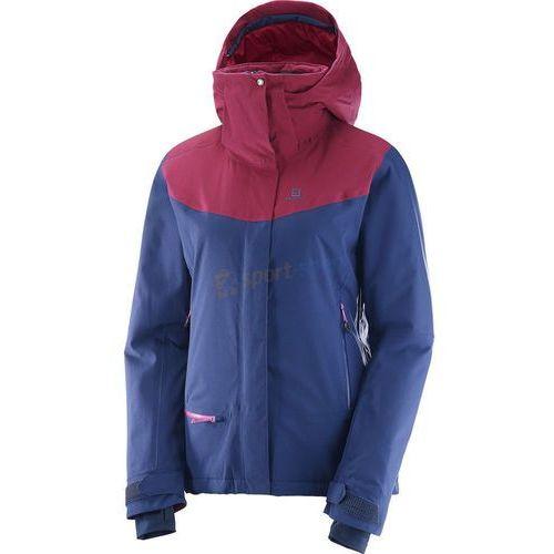 Salomon Kurtka narciarska damska quest snow jacket (granatowo-różowa)