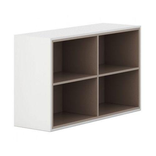 Plan Szafka otwarta white layers, jasnobrązowe półki