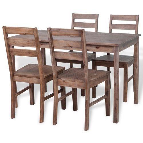 Vidaxl  zestaw mebli do jadalni - 5 elementów drewno akacjowe (8718476007905)