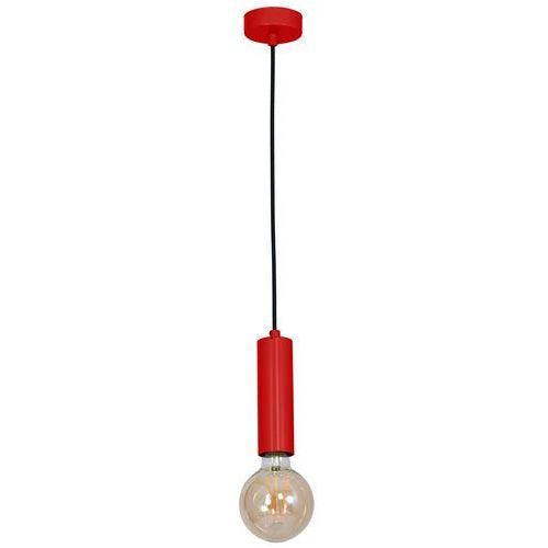 Luminex Lampa wisząca tubes 8510 zwis tuba 1x60w e27 czerwona (5907565985092)