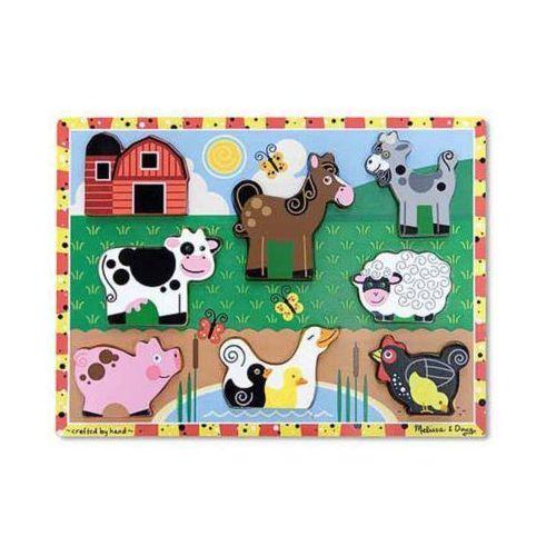 Melissa & doug Puzzle drewniane farma 13723 (0000772137232)