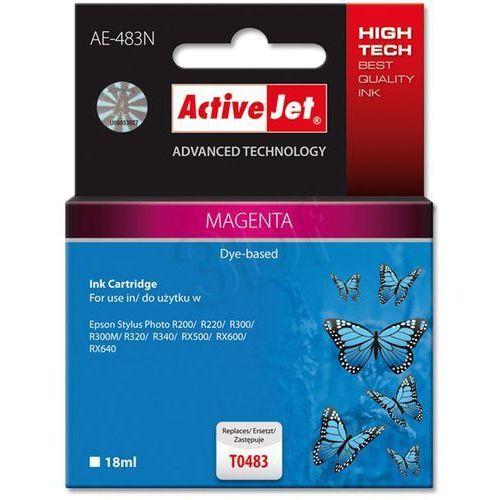 Tusz ActiveJet AE-483N (AE-483) Magenta do drukarki Epson - zamiennik Epson T0483, kolor Magenta