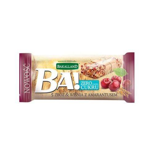Bakalland 30g ba! baton zbożowy 5 zbóż wiśnia z amarantusem